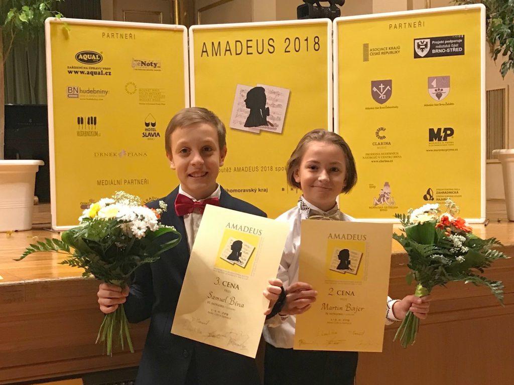 naši žáci na soutěži Amadeus